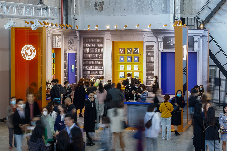 Louis Vuitton bookstore pop up at West Bund art fair.