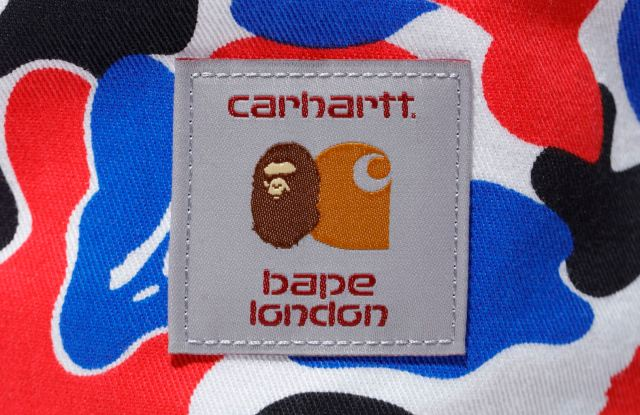 The label for Bape's Carhartt collaboration