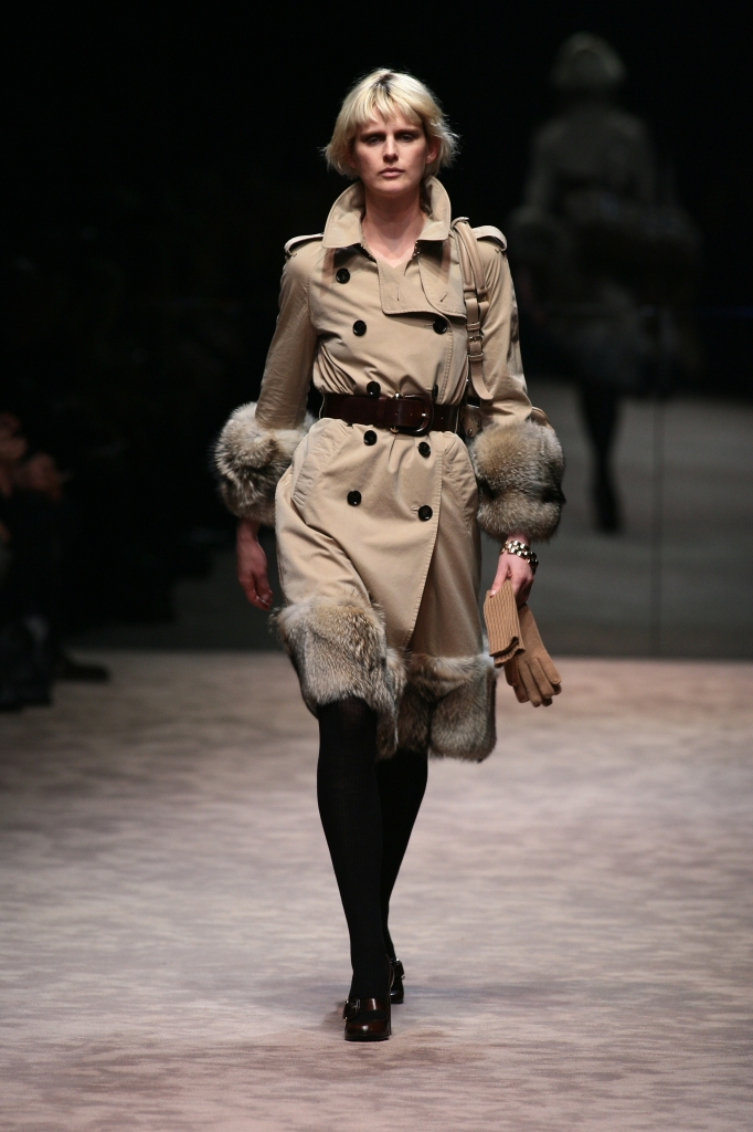 Stella Tennant on the runway at Burberry Prorsum's fall 2006 show.