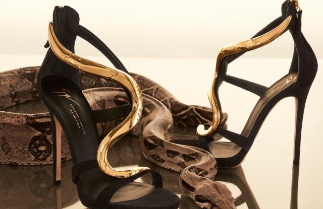 The re-edition of Giuseppe Zanotti's Venus stiletto