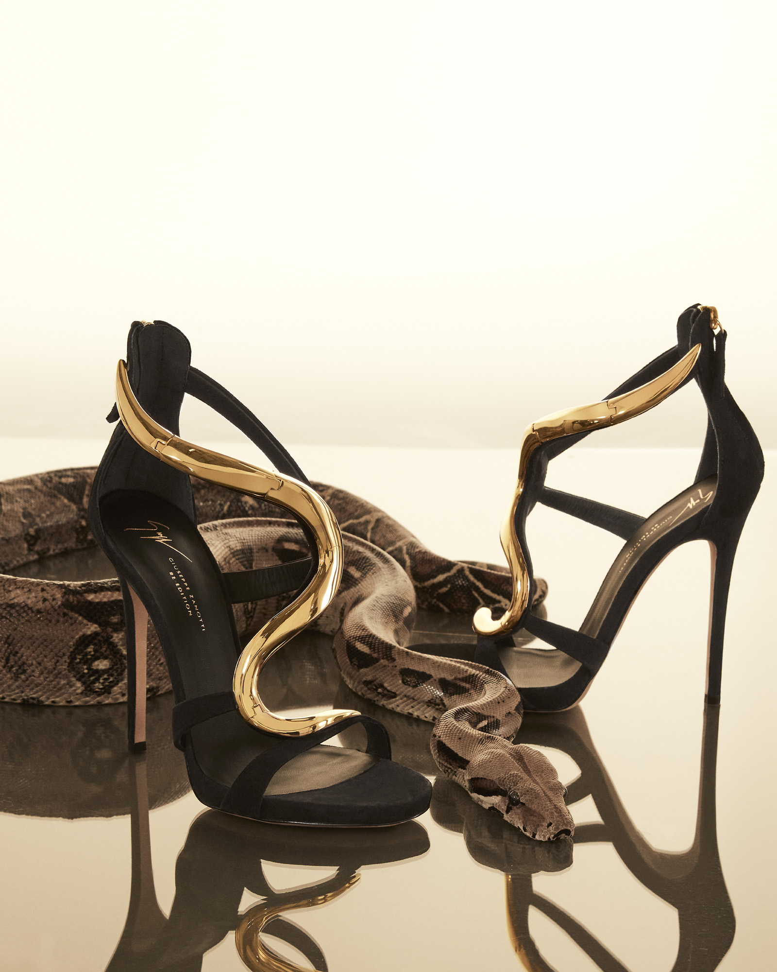 The re-edition of Giuseppe Zanotti's Venus stiletto