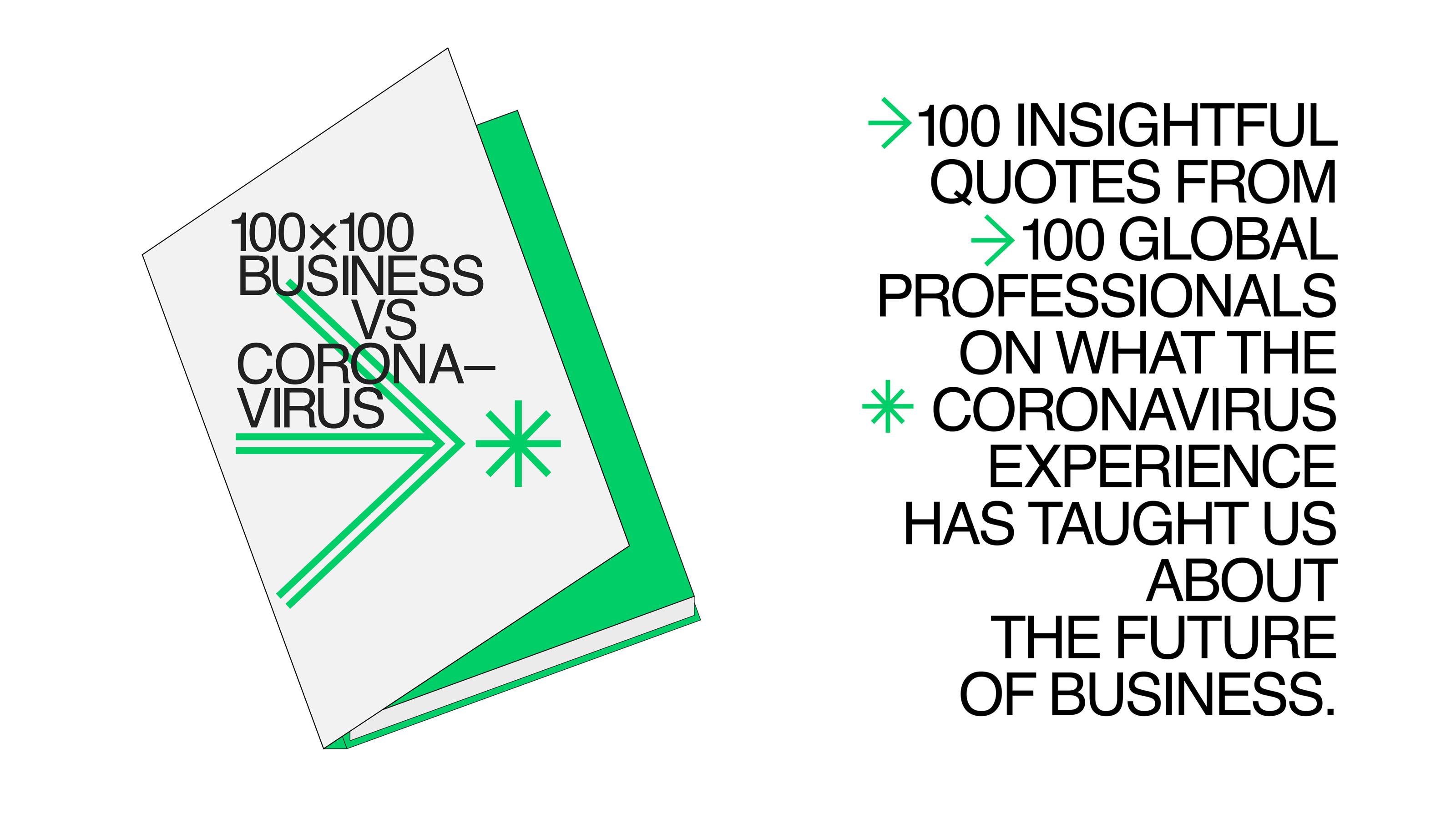 """The """"100x100 Business vs. Coronavirus"""" digital handbook."""