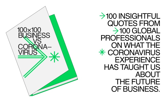 "The ""100x100 Business vs. Coronavirus"" digital handbook."