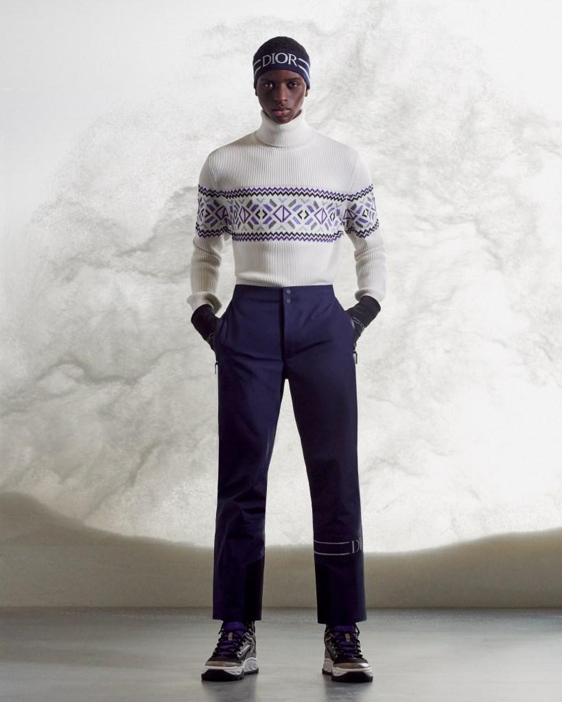 Dior Men White Wool Turtleneck Knit