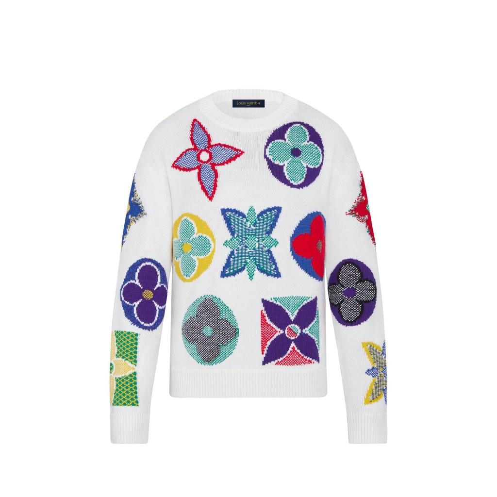 Louis Vuitton Men's Multicolor Monogram Crewneck