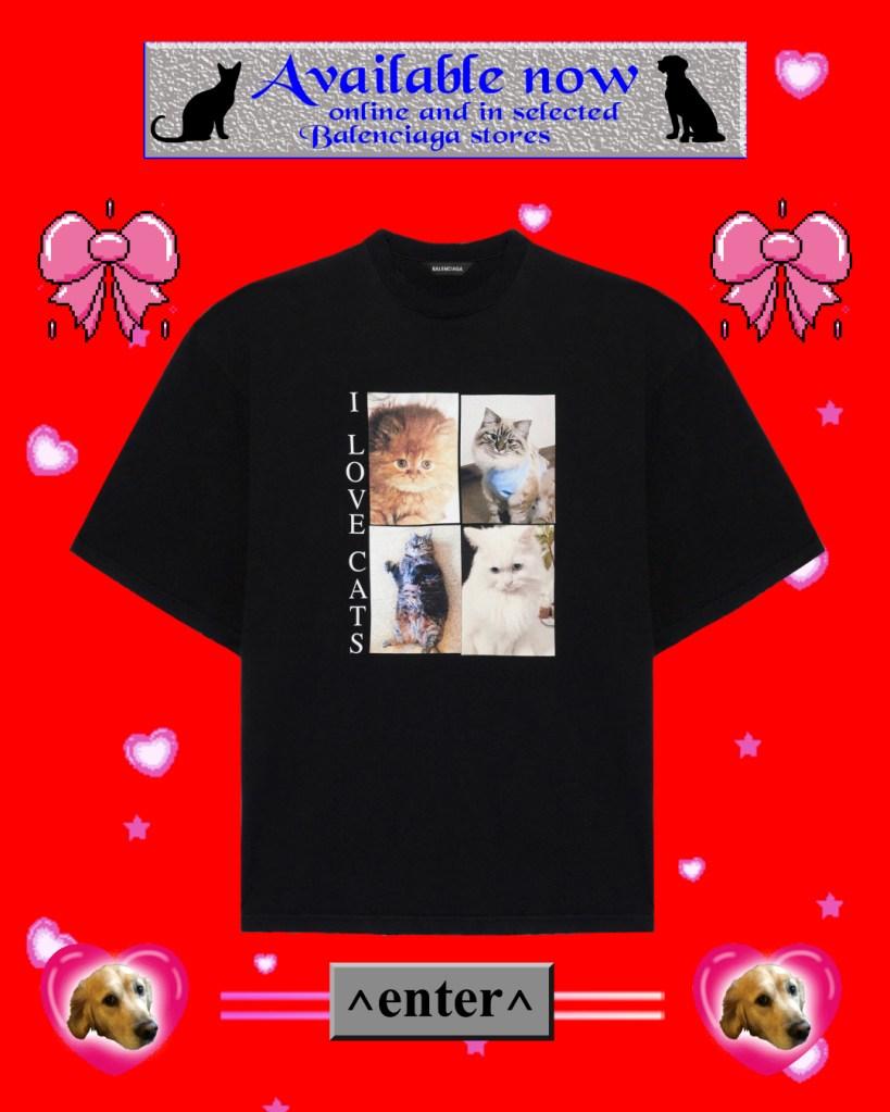 """Christmas Gifts 2020 Balenciaga """"I Love Pets"""" T-Shirt"""