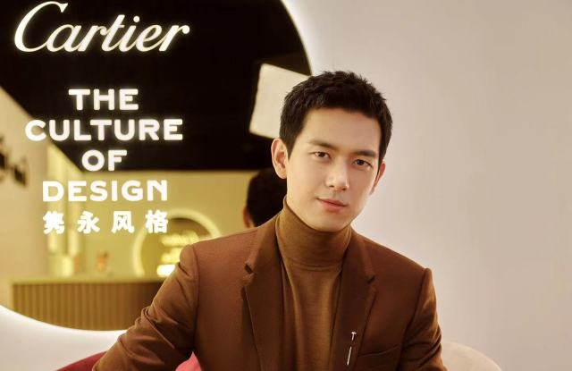Chinese actor Li Xian and friend of the house hosts live streaming for Cartier in China.