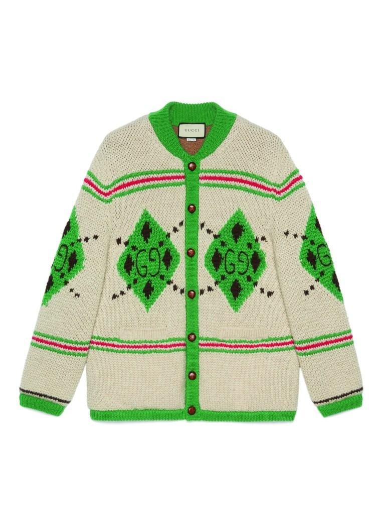 Gucci Alpaca wool jacquard cardigan