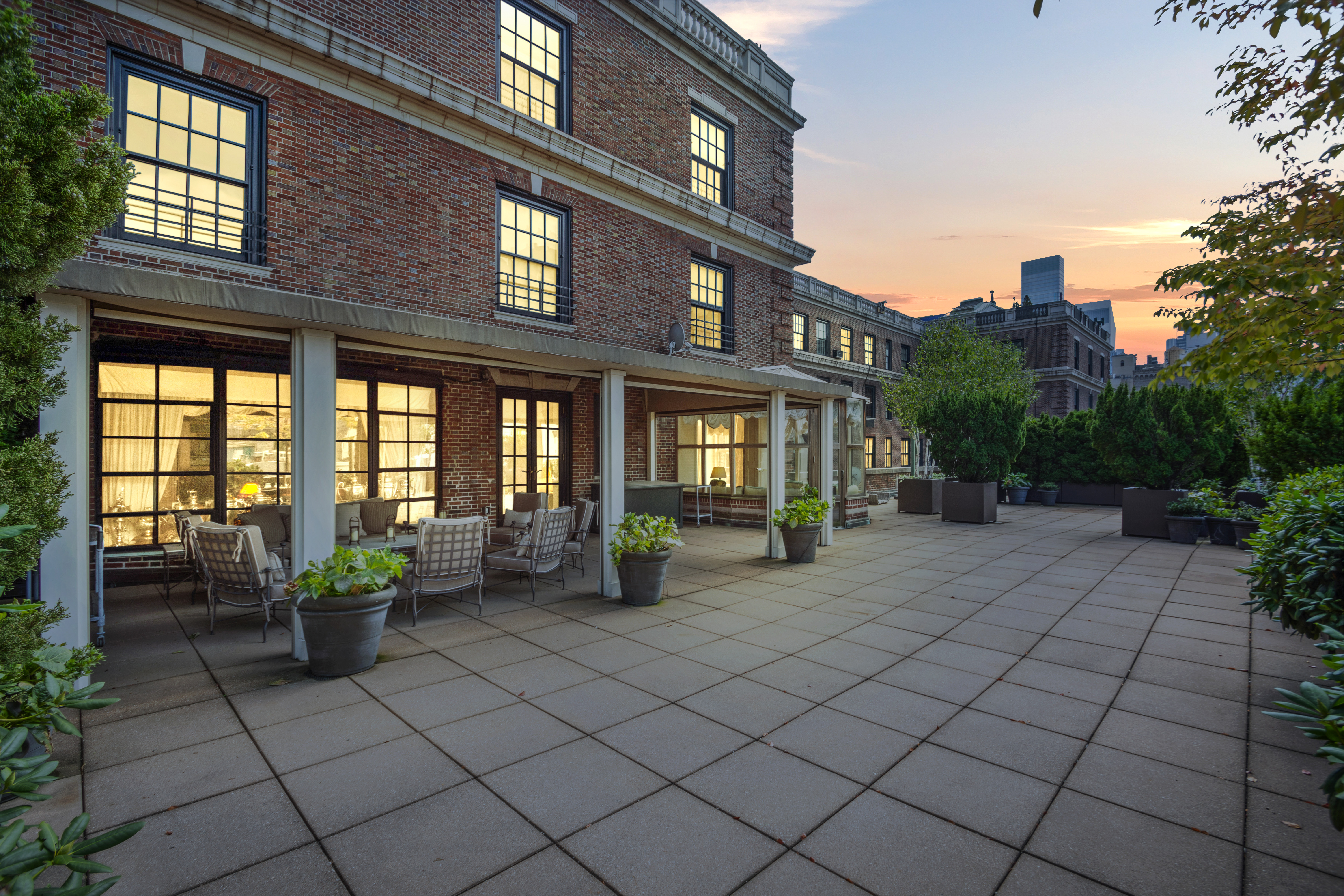 The apartment boasts a 3,000-square-foot terrace.