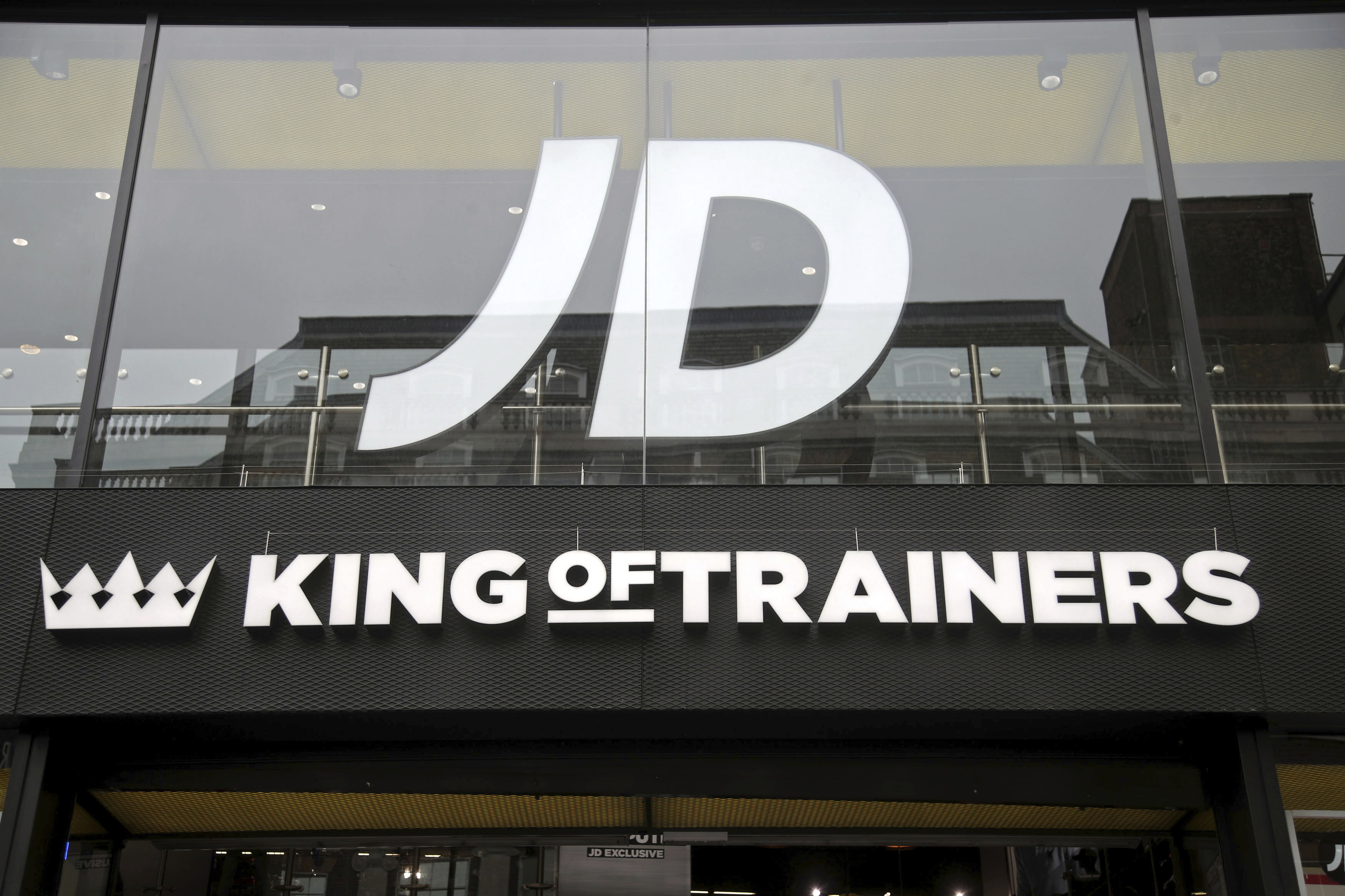 JD Sports financials. File photo dated 29/5/2018 of a branch of JD Sports on Oxford Street, central London. JD Sports has posted record results despite the UK's high street crisis, as the sports retailer looks abroad for further growth opportunities. Issue date: Tuesday April 16, 2019. The group reported a 49.2% increase in annual revenue to '4.7 billion for the 52 weeks to February 2, coming in at the higher end of market expectations. See PA story CITY JDSports. Photo credit should read: Yui Mok/PA Wire URN:42358267 (Press Association via AP Images)