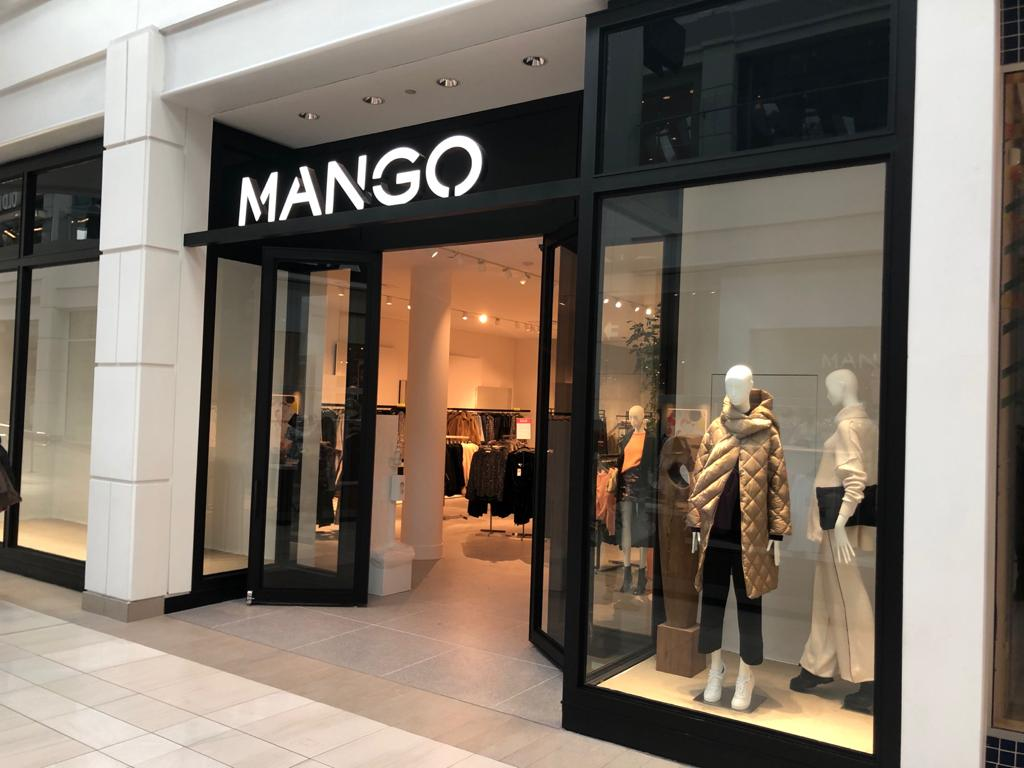 Simon Property Group is rolling out Mango stores. Here, the new Mango store in Menlo Park, N.J.