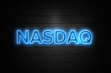 Nasdaq neon Sign on brickwall
