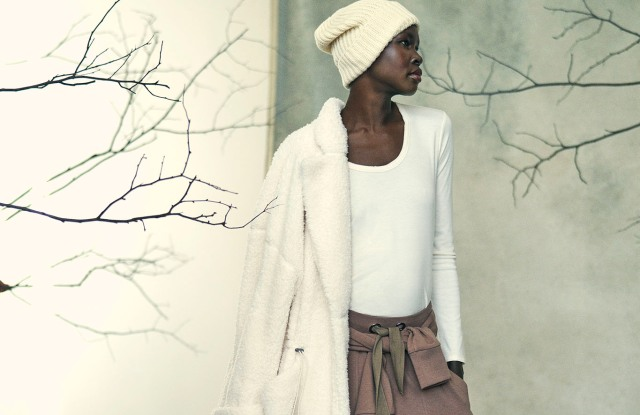 Alek Wek in the new conscious living-inspired brand's fall-holiday campaign.