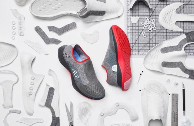 The Allbirds x Staple shoe.