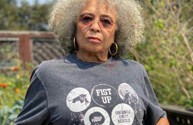 Angela Davis in the Renowned x Angela Davis T-shirt