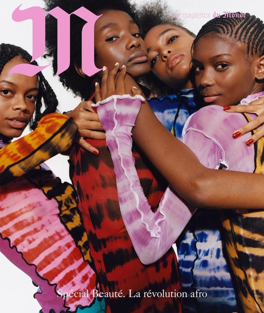 Models wearing Asai on the cover of Le Monde magazine