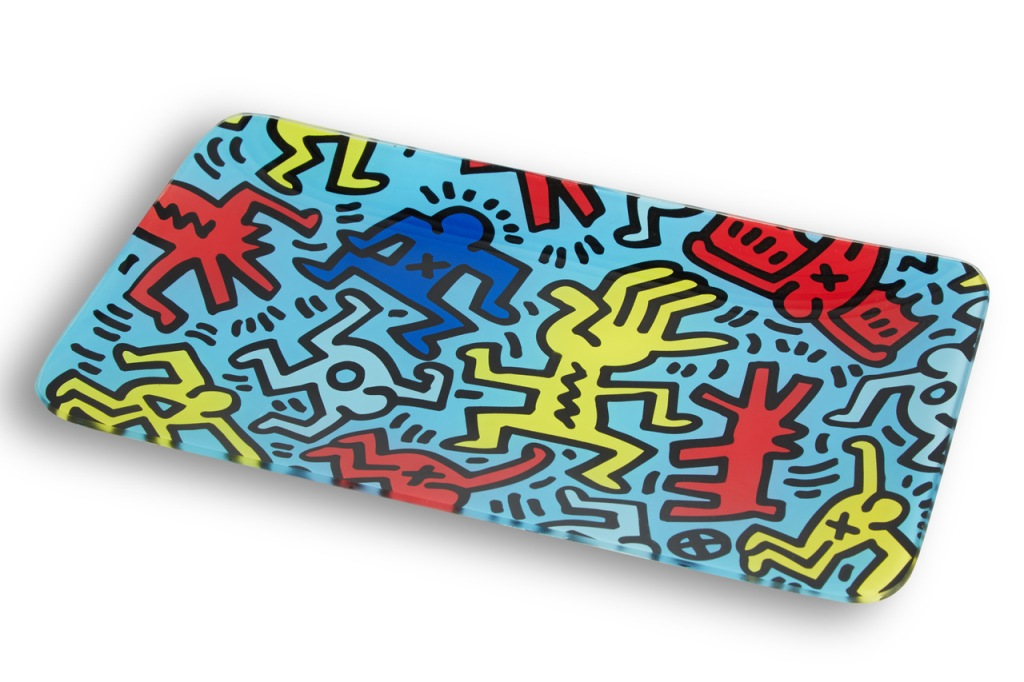 2020 Home Trends K.Haring Glass by Higher Standards Tray