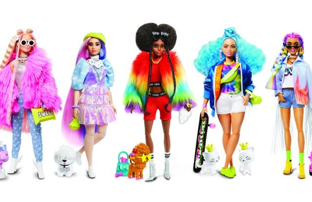 Barbie Extra dolls.
