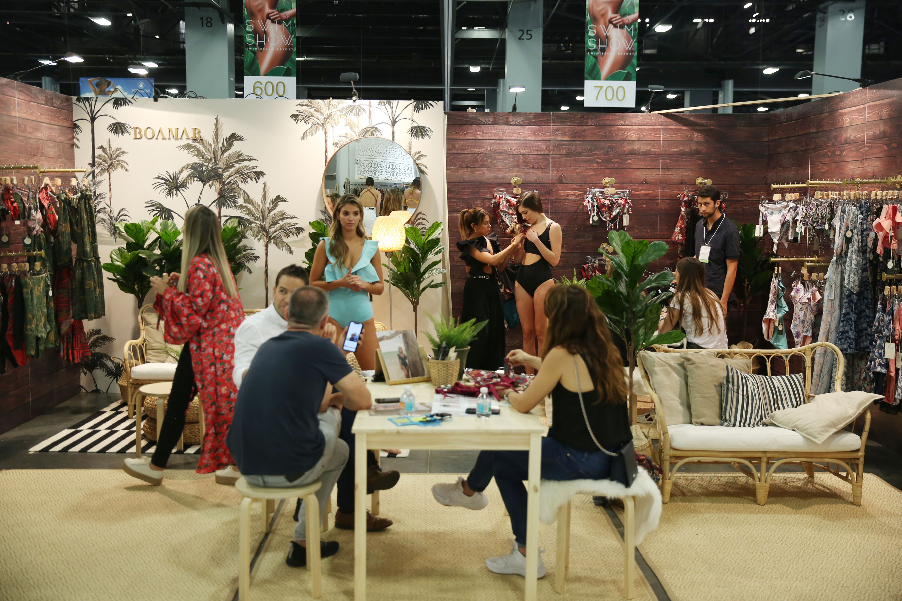 A booth at the 2019 SwimShow at the Miami Convention Center.