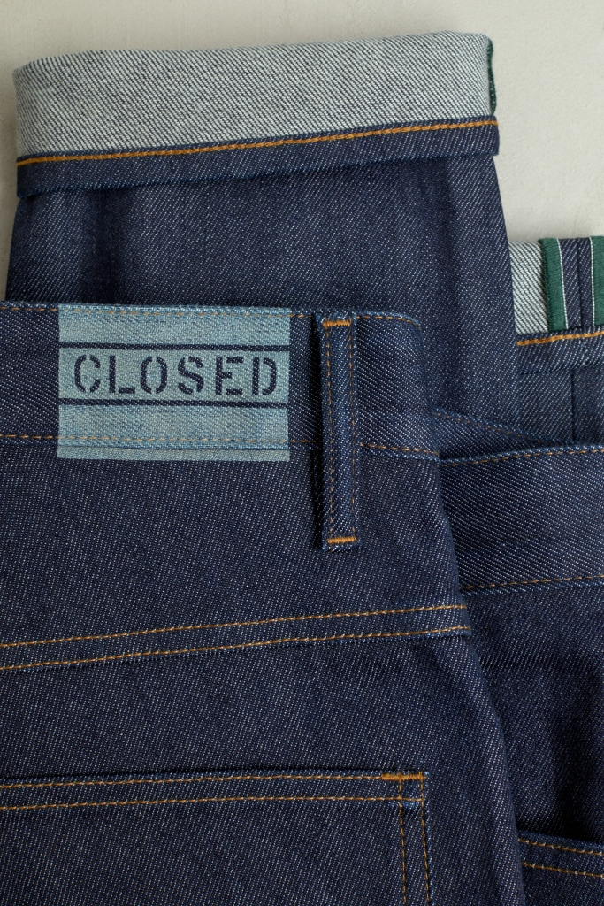 A denim pant from the Closed Coreva capsule collection.