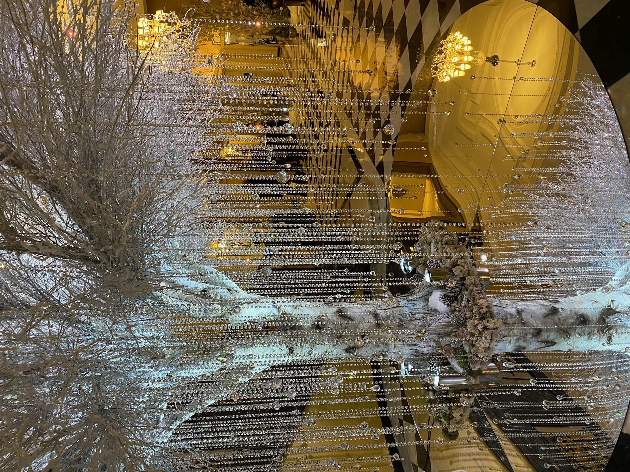 Claridge's 2020 Christmas tree.