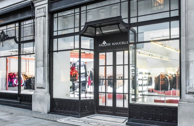 The new Moose Knuckles pop-up store in London.