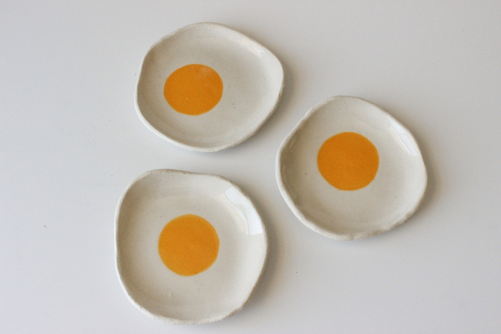 """Ceramic """"Sunny Side Up"""" Dish by Esther Jeong"""