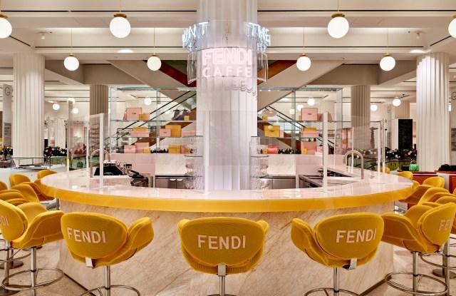 Inside the Fendi Caffe in Selfridges
