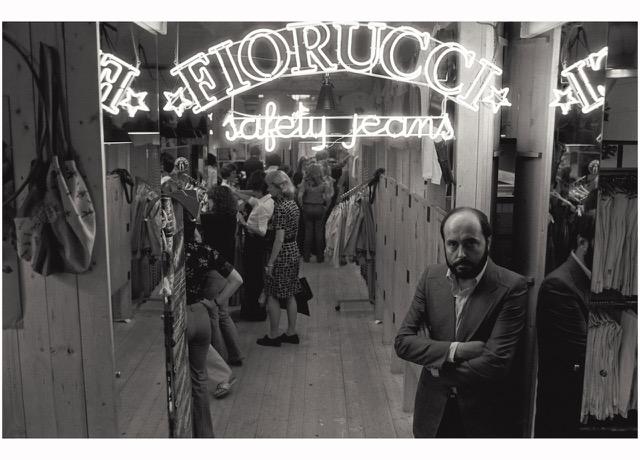 Elio Fiorucci at his store in Milan's San Babila.