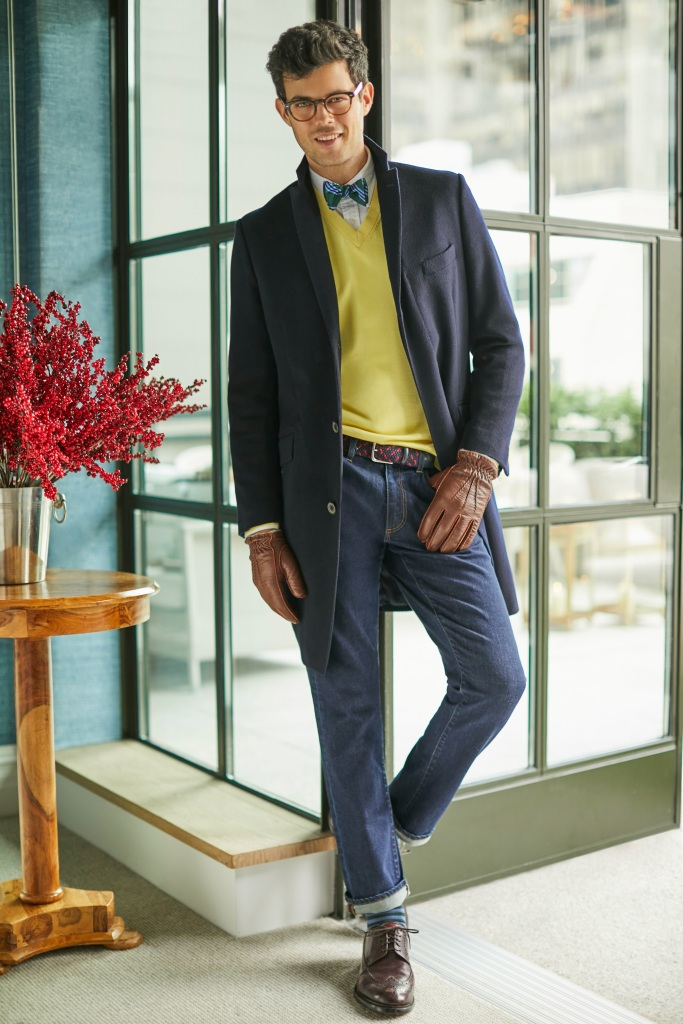 Brooks Brothers layering pieces.