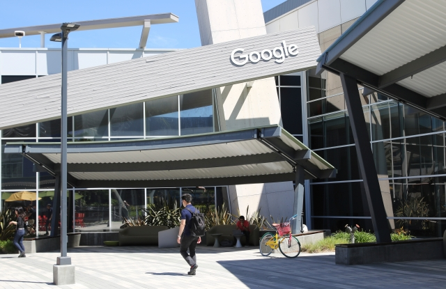 """The headquarters of US technology company Google in Mountain View, California, USA, 2 May 2017. The """"Googleplex"""" was orignially built and used by Silicon Graphics. Google has resided at the complex since 2003. - NO WIRE SERVICE - Photo by: Christoph Dernbach/picture-alliance/dpa/AP Images"""