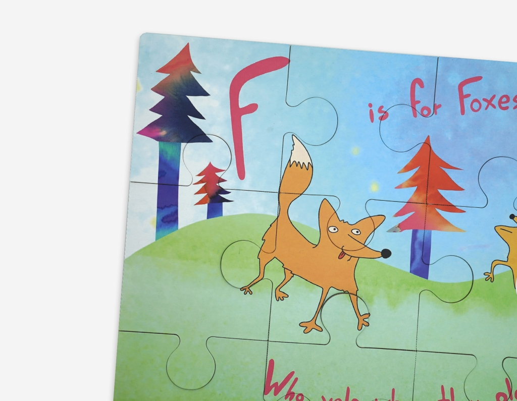 """""""F is for Foxes"""" puzzle."""