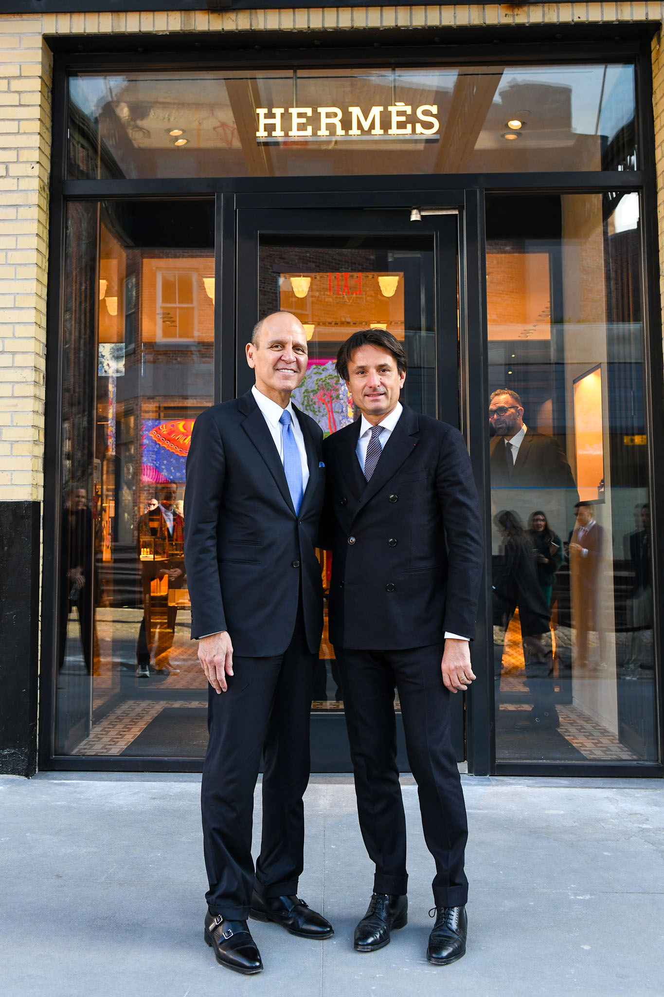 Robert Chavez with Hermès International ceo Axel Dumas.