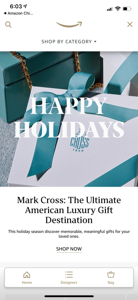 The Mark Cross gifting suite on Amazon Luxury Stores