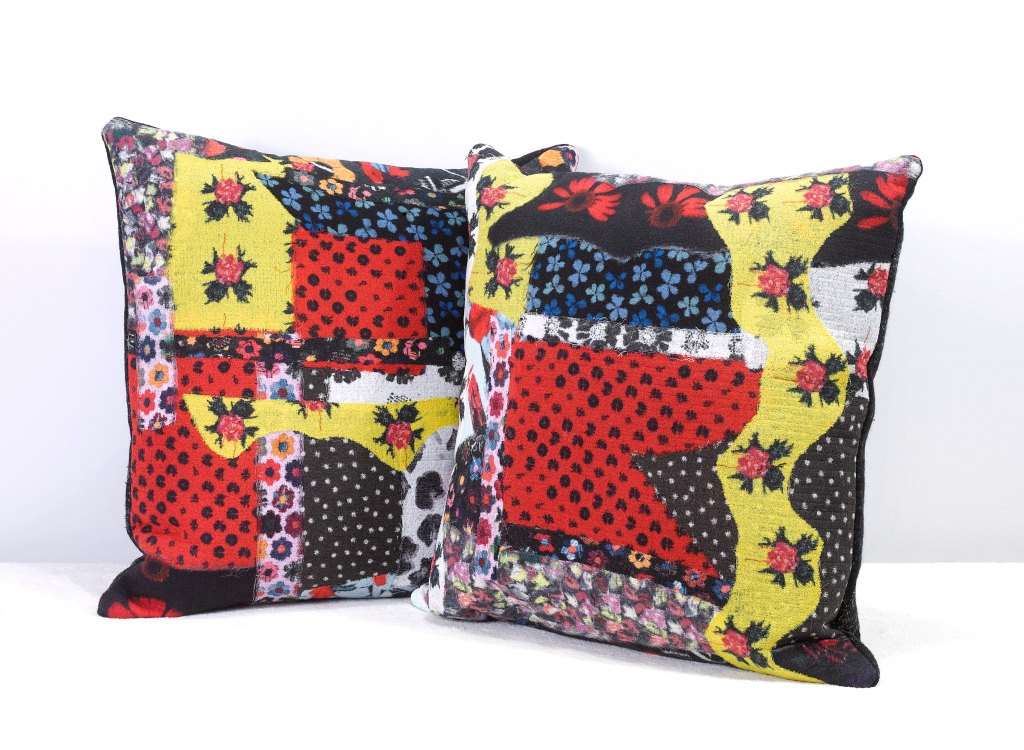 2020 Home Trends Jonathan Cohen Multi Color Fabric Felted Pillows