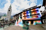 Louis Vuitton's store in Italian ski resort Cortina