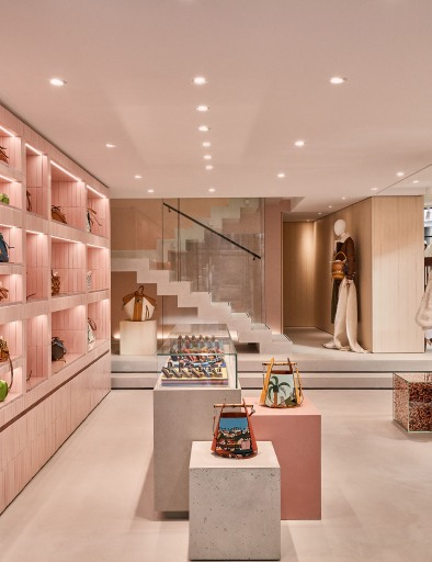 The new Loewe boutique on Rue Saint-Honore in Paris.
