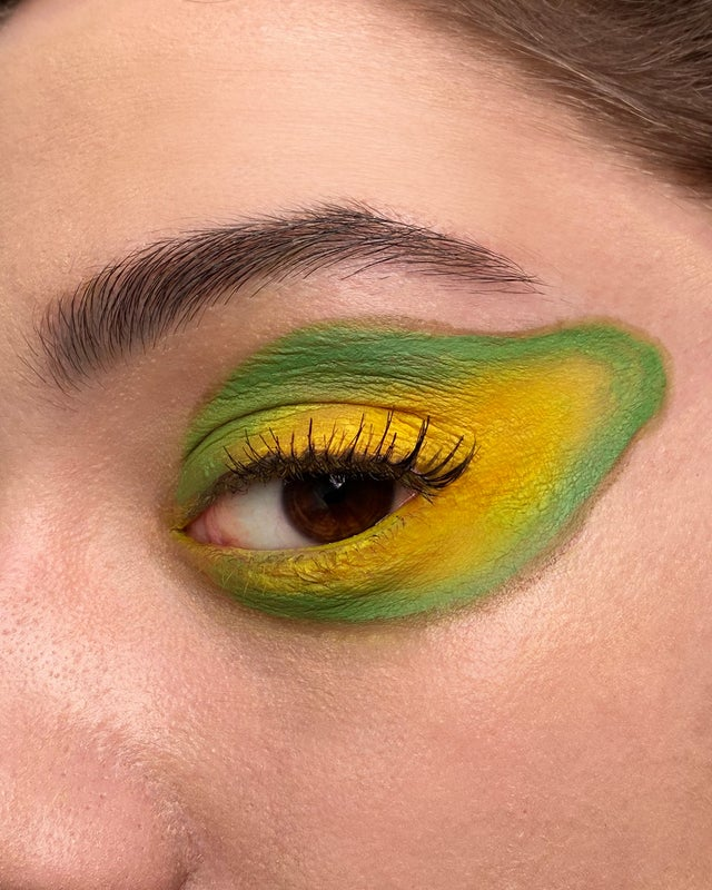 Avocado Eye makeup look posted by u/Mene_Makeup on Reddit's MakeUpAddictionUK