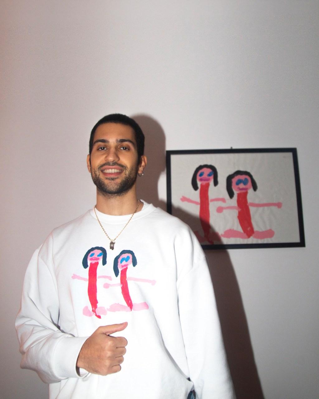 Mahmood Wearing Mahmood x Yoox