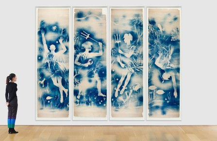 The panels from Matson Johns, the pseudonym used by Robert Rauschenberg and Jasper Johns in the Fifties.