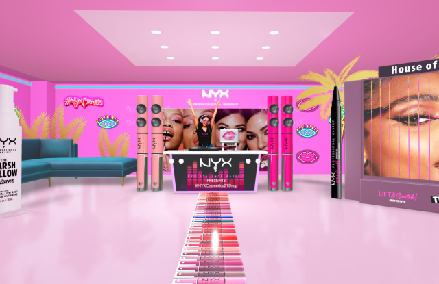 NYX Professional Makeup's virtual store for its latest campaign, #nyxcosmetics21drop.