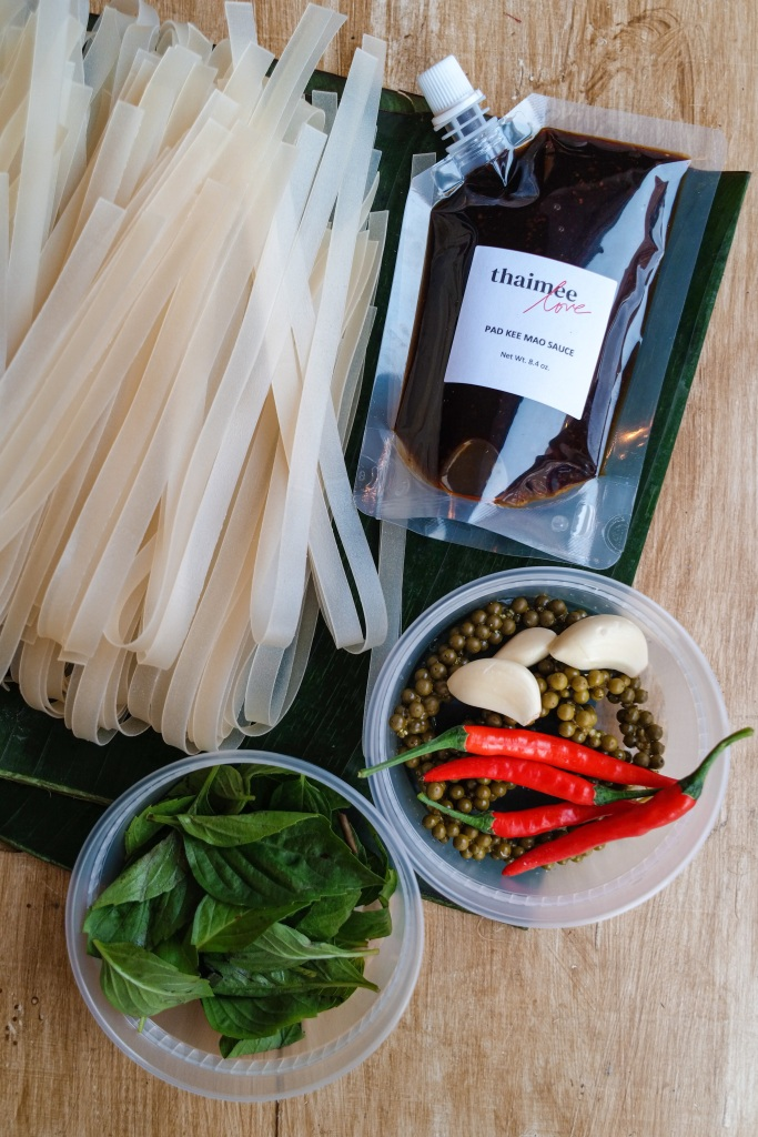 Pad Kee Mao sauce and meal kit.