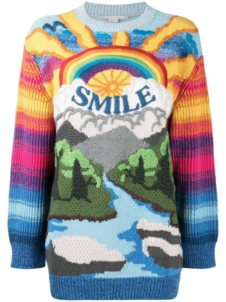 Holiday Sweaters 2020 Stella McCartney Smile Rainbow Jumper
