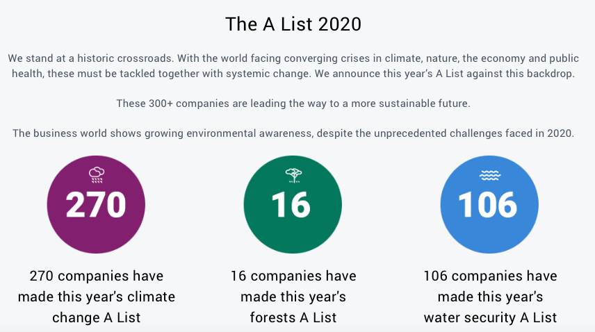 Carbon, climate action, CDP, sustainability, companies, pollution