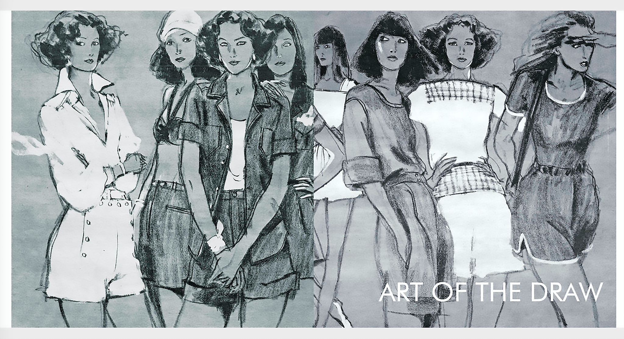 A 1973 Summer shorts feature. Drawing by Glenn Tunstull.
