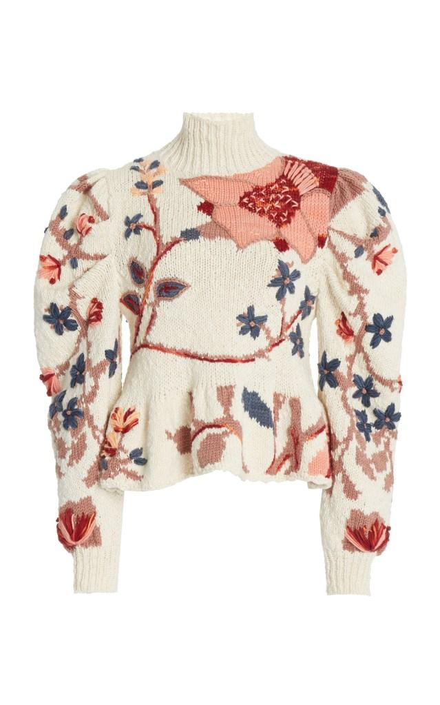 Ulla Johnson Palma Intarsia-Knit Sweater