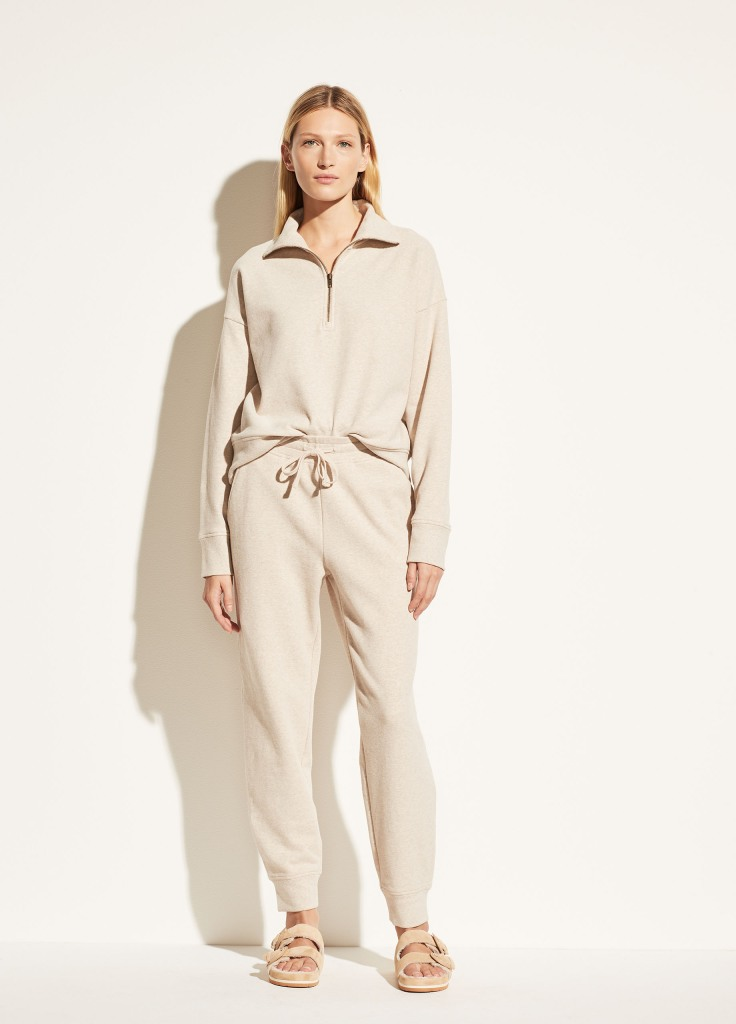 Vince French Terry Half-Zip and jogger