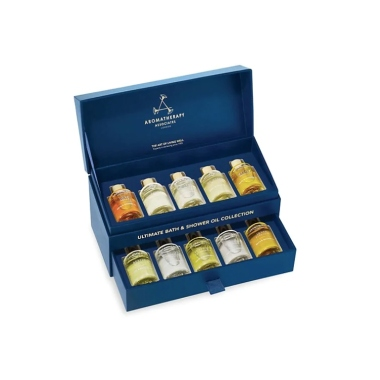 Aromatherapy Associates Festive Holiday Ultimate Moments 10-Piece Essential Oils Set
