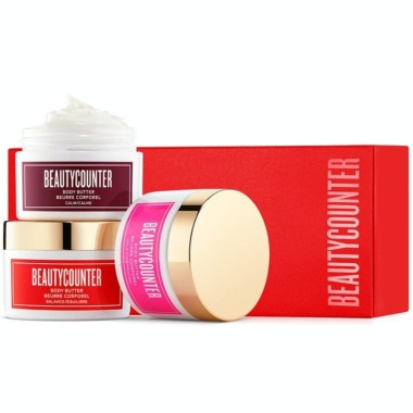 beautycounter good scents trio de beurre pour le corps, beautycounter holiday