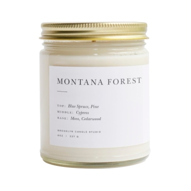 brooklyn candle montana forest christmas candle